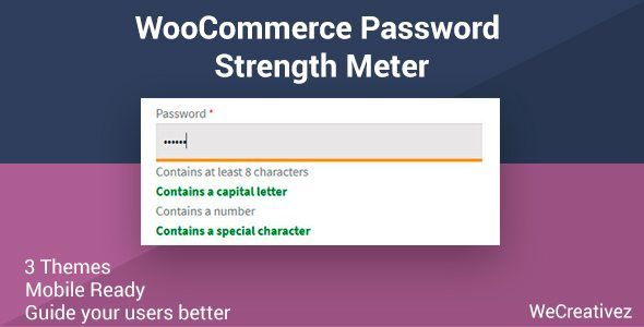 Download WooCommerce Password Strength Meter Nulled Latest Version