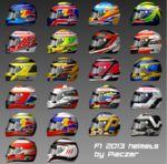 Formula 1 2013 driver helmets by pieczaro