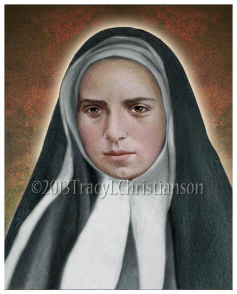 St. Bernadette Soubirous B Art Print Catholic by PortraitsofSaints