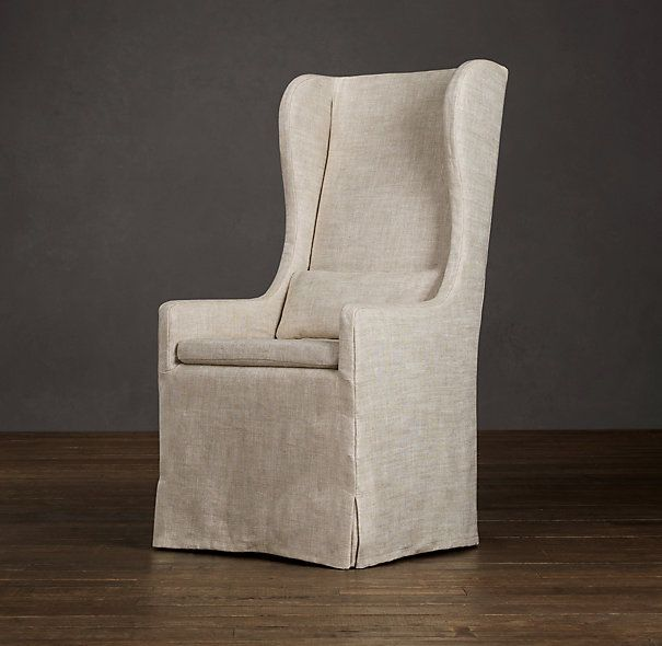 Slipcovered Wingback Dining Fabric Arm & Side Chairs | Restoration Hardware  $350 - I'm - Best 25+ Restoration Hardware Dining Chairs Ideas On Pinterest