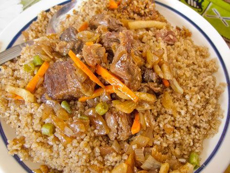Ceebu Yapp - beef or lamb variation, of the Senegalese dish
