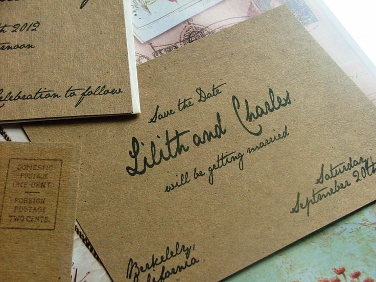 Handwritten Wedding Invitations ..very Jane Austin!