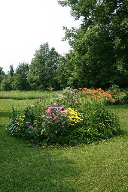 flower bed hiding septic tank access landscaping is actual flickr