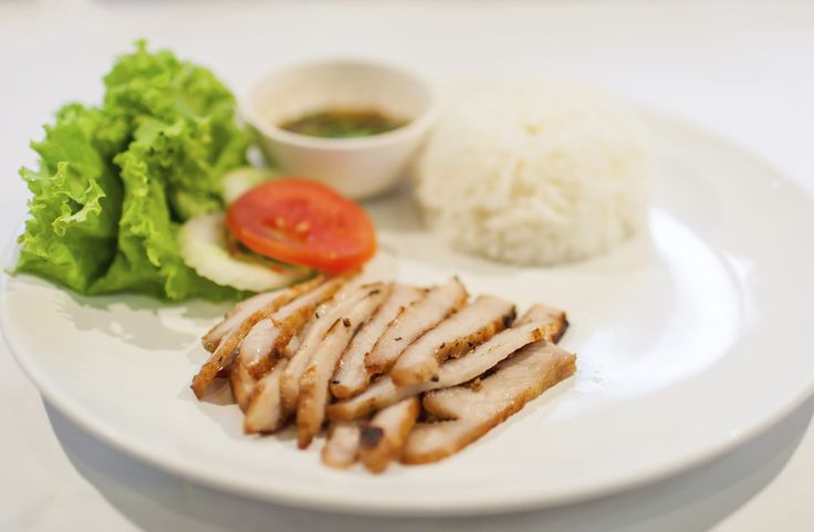 Adobo (Philippines) The dish is made of meat or seafood prepared in soy sauce, vinegar and spices. It tastes best with white rice.