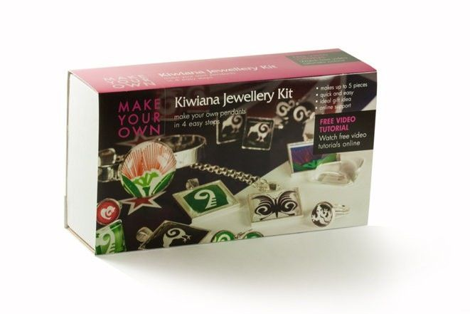 Kiwiana jewellery kit everything you need to make up to 5 pieces of glass tile jewellery. Made in New Zealand