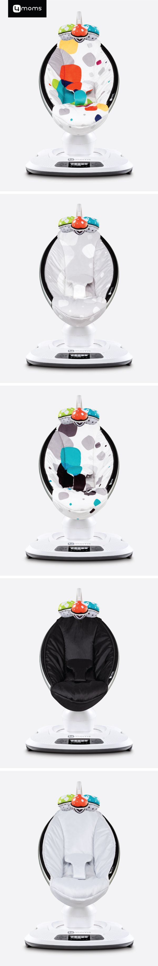 """""""Lifesaver! My second pair of arms."""" The 4moms mamaRoo bounces up and down, and sways side to side just like you do. It soothes and entertains your little one so that you have time to do, well, everything else – it's a new mom must-have. Which color would you choose?"""