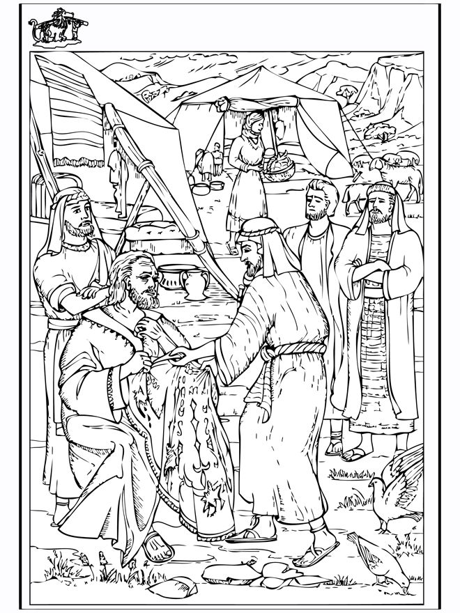jacob bible coloring pages - photo#14