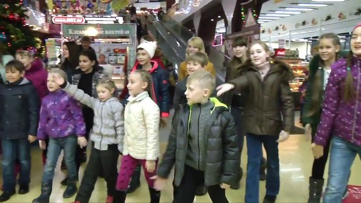 Кемерово ДЕТИ ПОЮТ! - песенный флешмоб (21.12.2016)