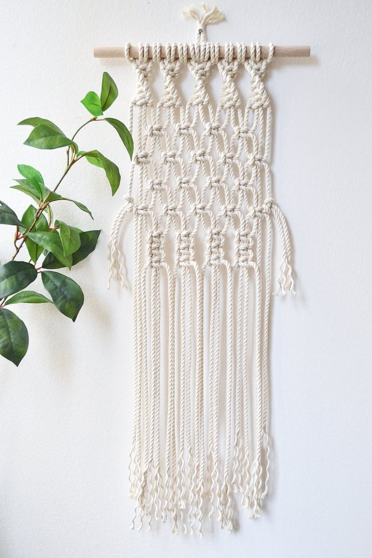 Diy macrame wall hanging kit with knot guide pattern