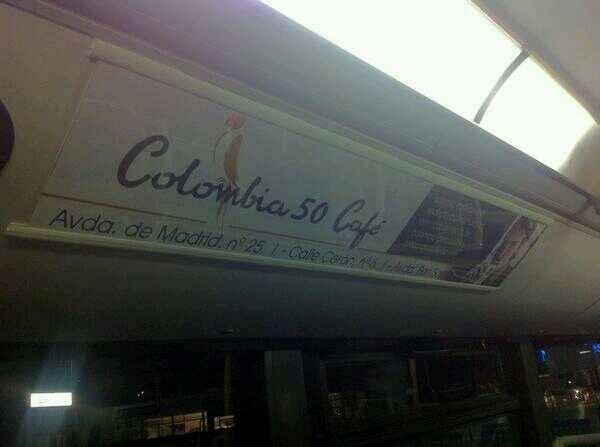 cambios en el logo de colombia 50 nos lo encontramos en un autobus
