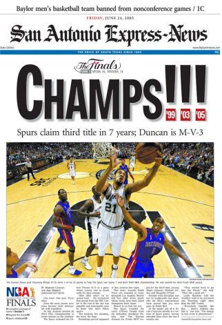 2005 NBA Champions San Antonio Spurs |Link to article
