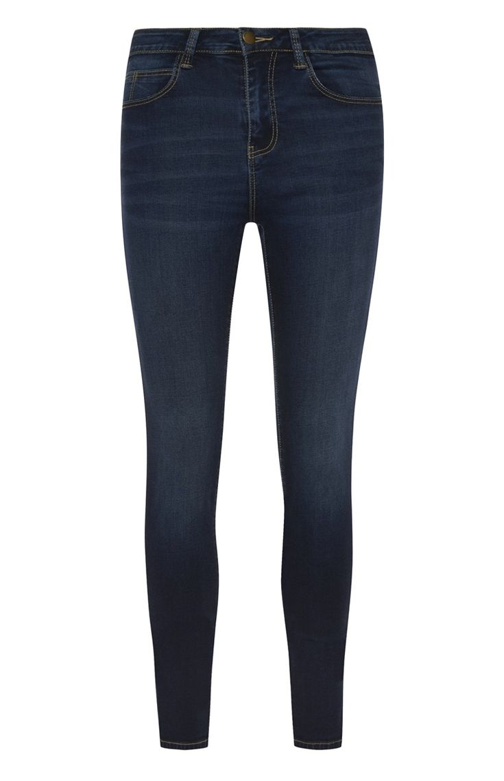Primark - Mid Blue Power Stretch Skinny Jeans