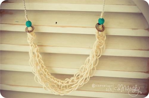 finger-knit necklace