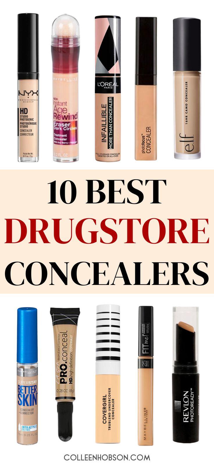 Top 10 best drugstore concealers for covering dark under