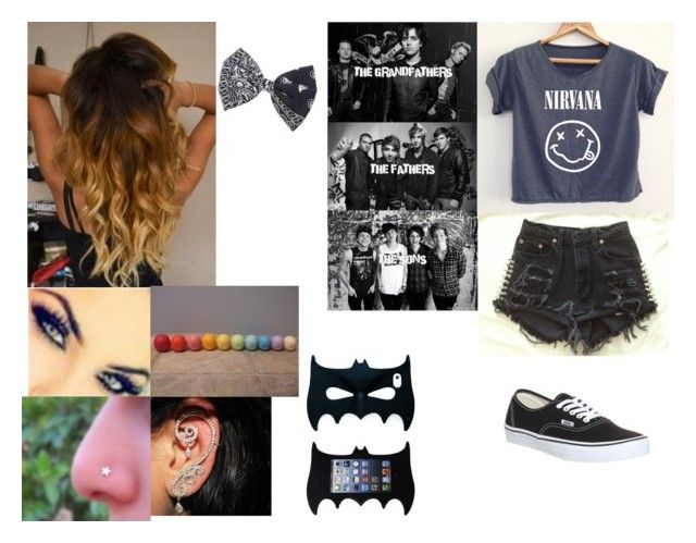 """""""hahahhahahhahaha its ok"""" by dayna-hood-gilinsky-ross on Polyvore featuring Vans, Eos and claire's"""