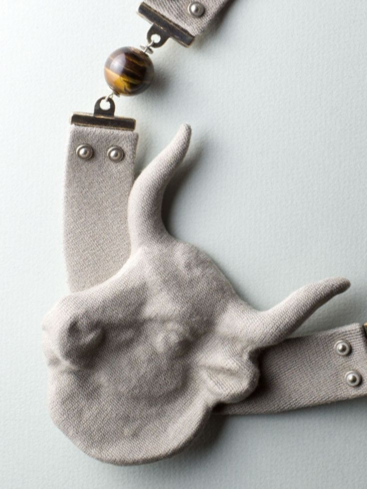 Gray Bull Necklace by Carla Szabo #jewelry #design #details