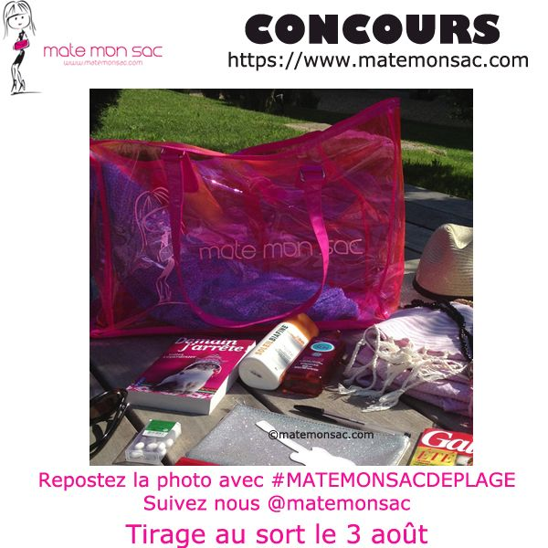 Concours Instagram, un sac de plage à gagner en vente sur https://www.matemonsac.com