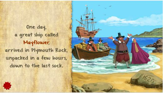 Thanksgiving Fable & Games - a Thanksgiving themed storybook with extra activities. #turkey #kids #apps #iPad #iPhone