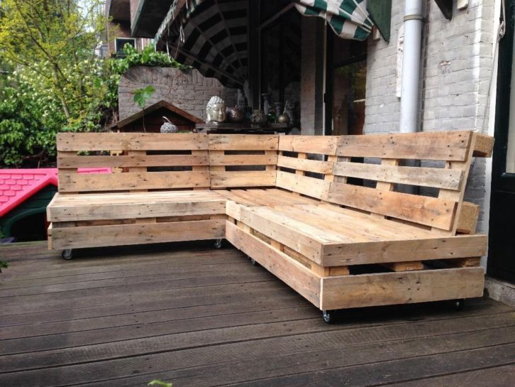 Pallet bankjes   Outdoor   garden   Pinterest   Pallets and Van