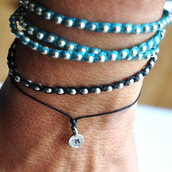 Reserved for STACY Big Karma bracelet with by VivienFrankDesigns