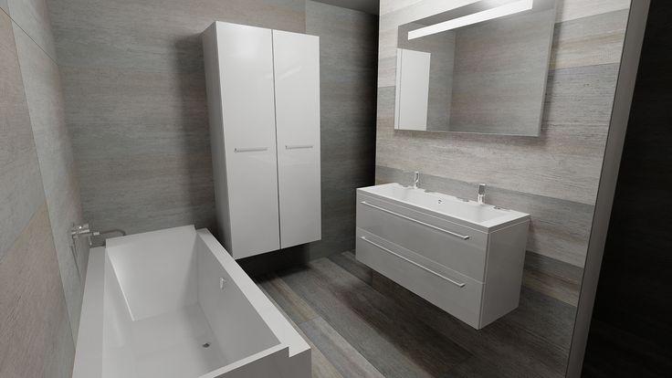 Think out of the box keramische tegels in verschillende maten zelf 180 x 60 cm maak je - Badkamer tegel cement ...