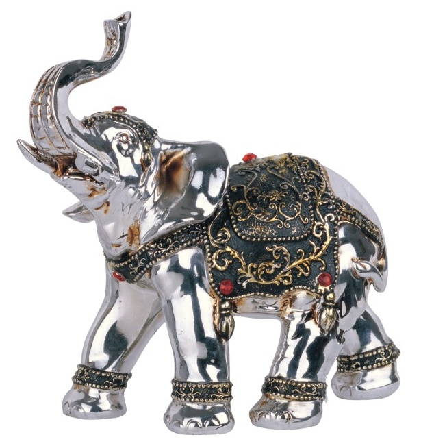 6.5 inch Silver Thai Elephant Facing Left Statue