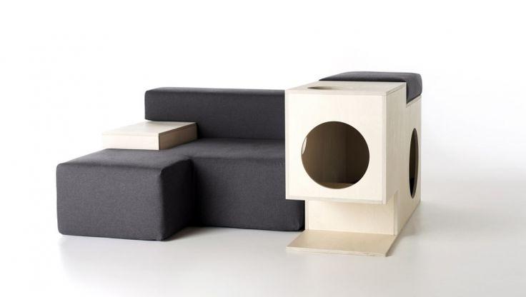 Nestore / pet-friendly armchair / design Simone Michelotto / Formabilio