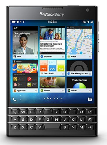 The #BlackBerry Passport smartphone challenges the smartphone status quo with a large square touch screen and touch-enabled keyboard.