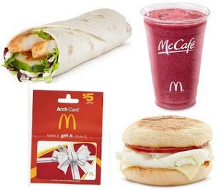 Bonggamom Finds: Bonggamom's Birthday Giveaways: McDonald's Arch Card + free McDonald's Egg White Delight