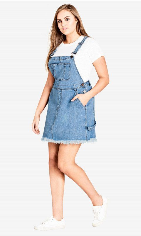 890e7b1e2d1 Denim Overall Bib Dress in 2019 | Phat | Denim overall dress ...