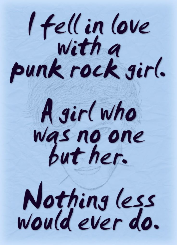 """Quote From The Novel Love And The Punk Rock Grrl: """"I Fell"""