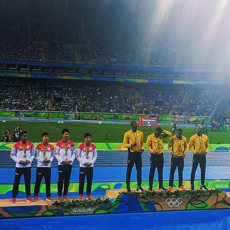 Final do Atletismo com direito a premiação de #Bolt  Simplesmente incrível ver ao vivo as modalidades mais antigas da história das olimpíadas!  #olympics #olimpiadas2016 #rio2016
