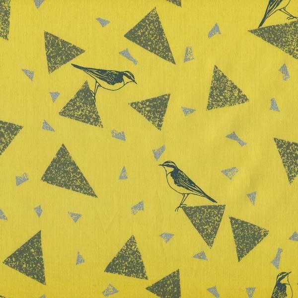 Echino Triangle Bird - Yellow | The Makery