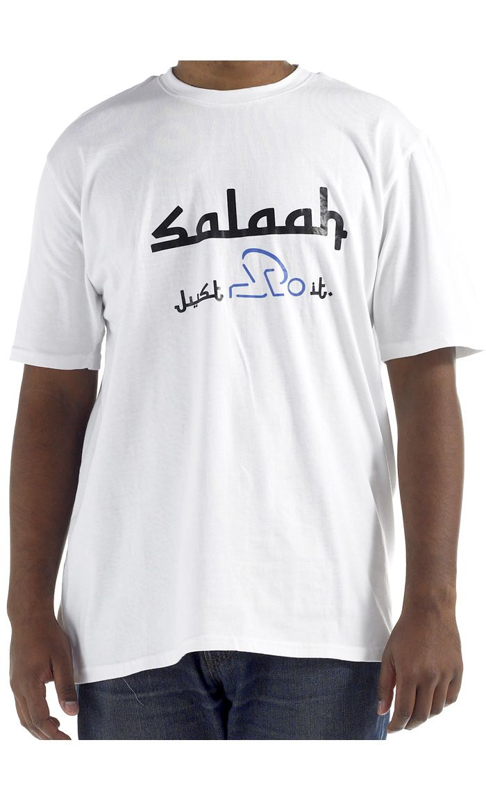 Salah.  100% cool comfortable cotton t-shirt.