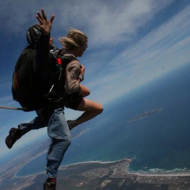 Skydiving over Cape Town, South Africa!