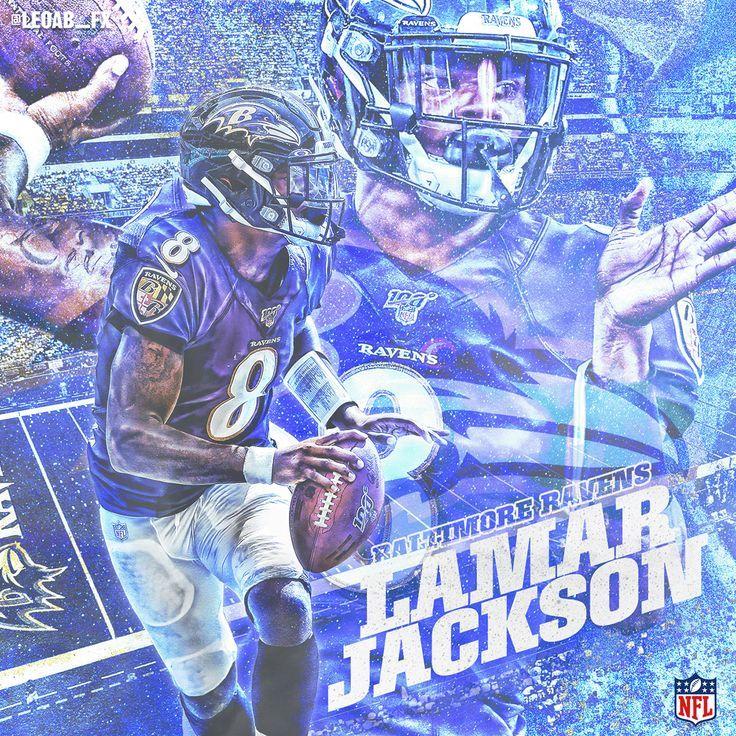 20192020 NFL Designs in 2020 Nfl football art, Lamar