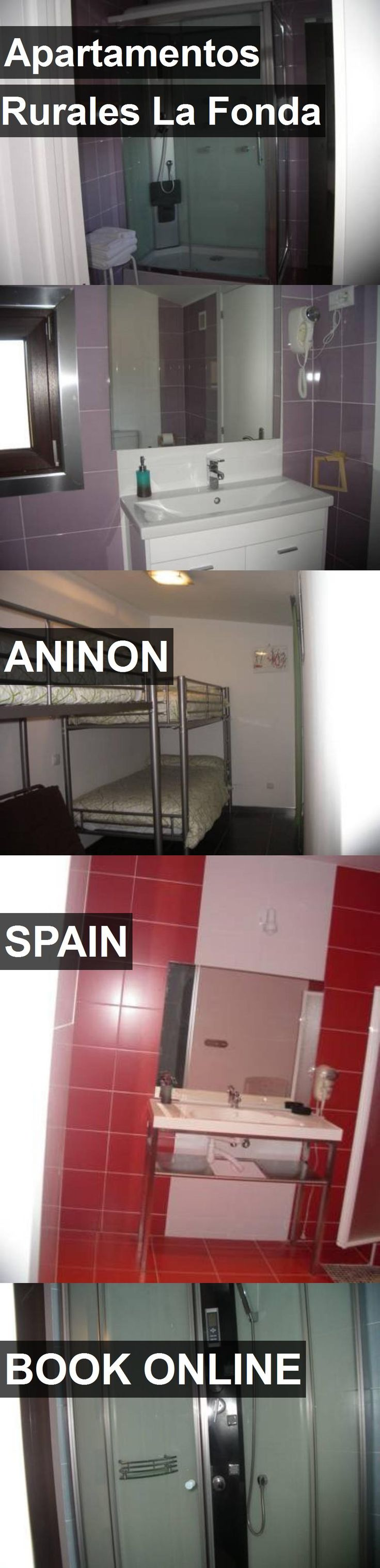 Hotel Apartamentos Rurales La Fonda in Aninon, Spain. For more information, photos, reviews and best prices please follow the link. #Spain #Aninon #travel #vacation #hotel