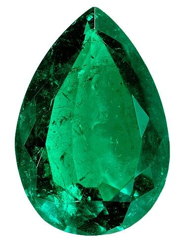 "Emerald tear drop cut  ""The foundations of the city walls were decorated with every kind of precious stone. The first foundation was jasper, the second sapphire, the third agate, the fourth emerald,"" ~ Revelation 21:19"
