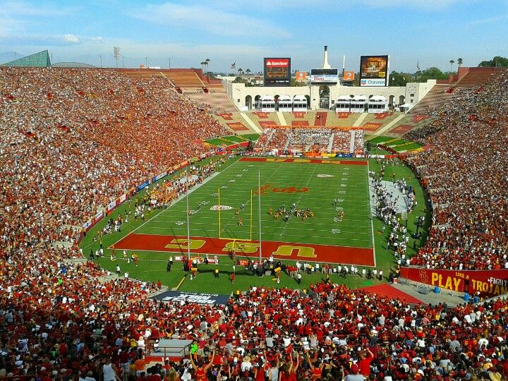 Los Angeles Memorial Coliseum is located next to the Los Angeles Memorial Sports Arena in Exposition Park, across the street from USC. Home to the USC Trojans football team boasting a capacity of 93,607. http://skicks.com/blogs/recent-articles