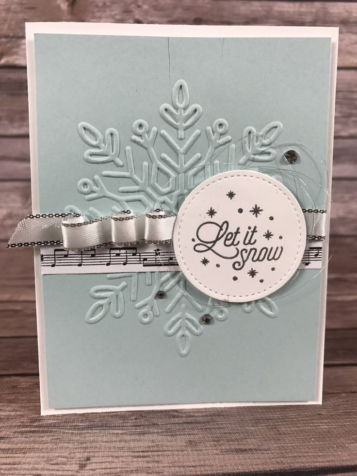 Christmas Card- Let it Snow Snowflake Card Class Kit by ScrapHappyPagesStore on Etsy