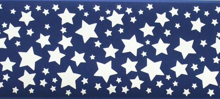 Interior Place Blue Stars Wallpaper Border, 16.99 (http