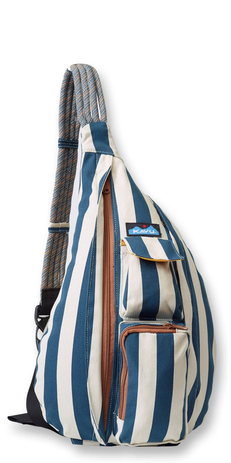 Monogrammed Kavu Rope Bags - Nautical Stripe by DesignsbyDaffy on Etsy