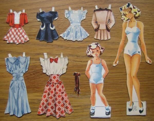Store Marie og Lille Marie med tøj - originalt