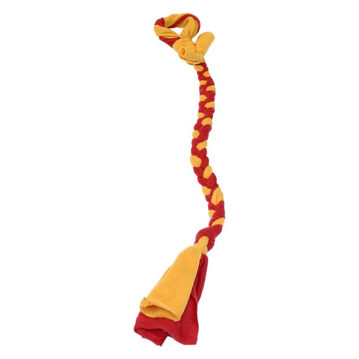 """Tether Tug Braided Fleece Replacement Tether Toy Assorted Colors 30"""" x 2"""" x 2"""""""