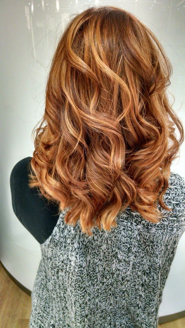 Amazing copper hair by Sarah Merrill of #Ulta. She did a color retouch,balayage…