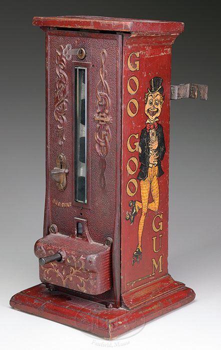 Rare Antique Goo Goo Gum machine - James D. Julia, Inc.
