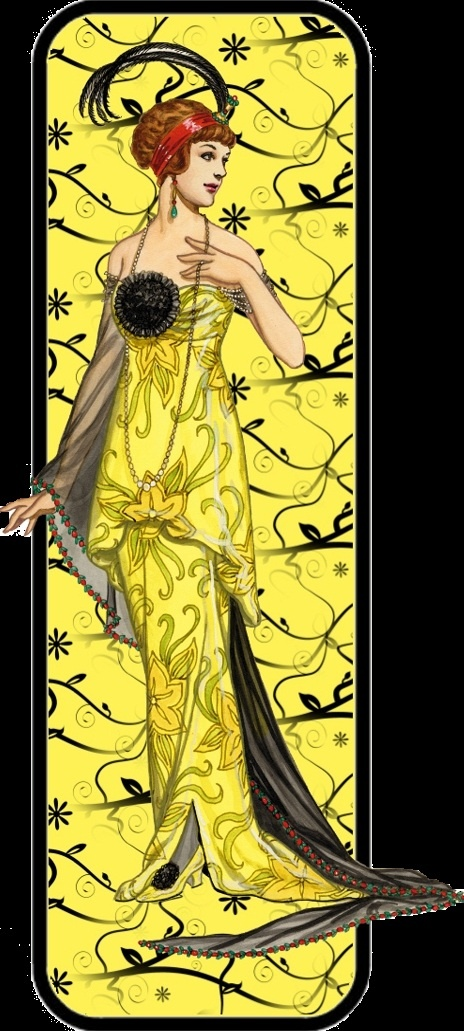 art deco - yellow lady