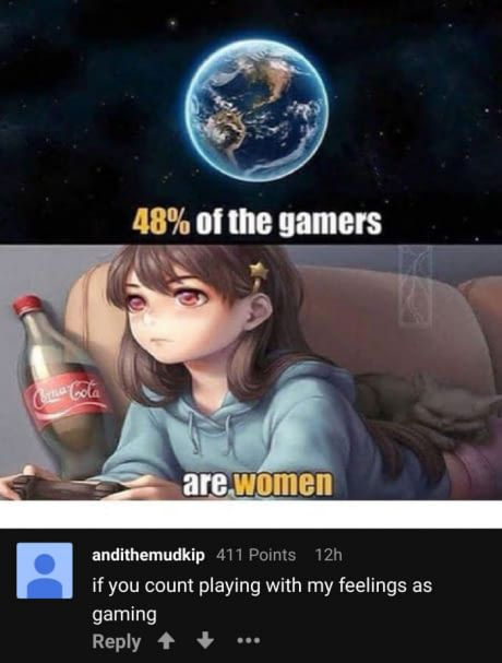 I was raised by a gamer dad and my mom can beat you in Mario cart every single time and iv e become dependent on video games and guess what I play horror games normal games action games like Minecraft Roblox GTA5&3 Slender Slendytubbies life is strange etc.SEGA games are the best btw I love Streets if rage Sonic Mortal Kombat I also have guitar hero all but the newer one I have an original Nintendo technically it's my mom's but we have a giant grate & movie book shelf FULL of video games