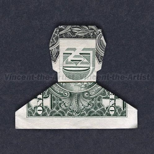Dollar Origami SMILING DUDE