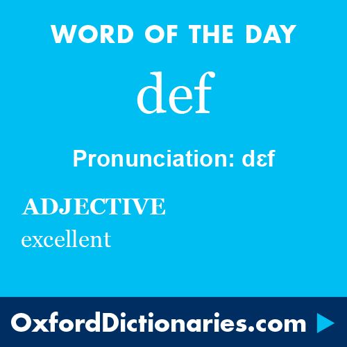 def (adjective): excellent. Word of the Day for 26 July 2016. #WOTD #WordoftheDay #def